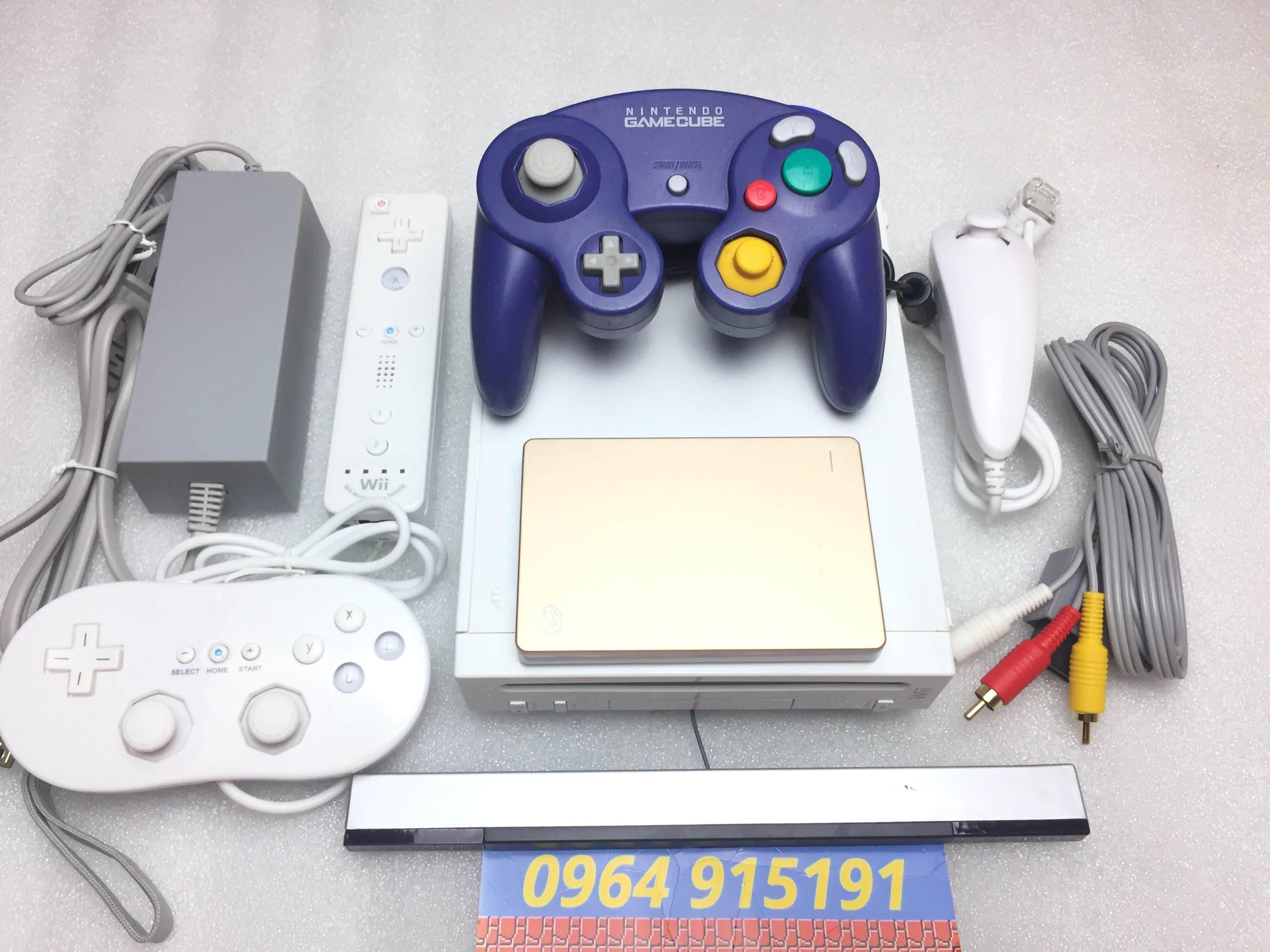 Máy Nitendo Wii Nhật Zin 99% Hack Full SET Super VIP Chứa Hơn 300 Game