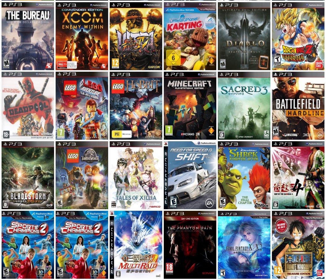 Dưới đây là 1 số hình ảnh những game hay, nổi bật trên hệ máy PS3: