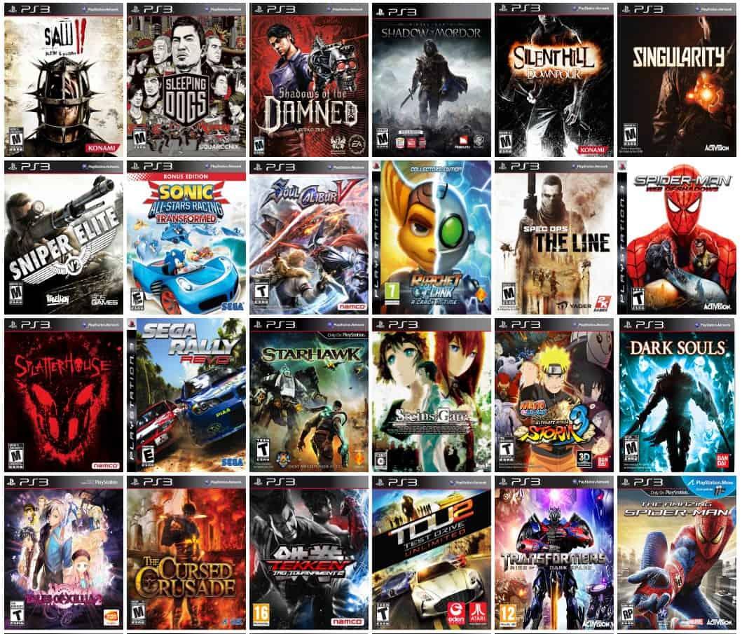 Dưới đây là List games PS3 bằng hình ảnh.